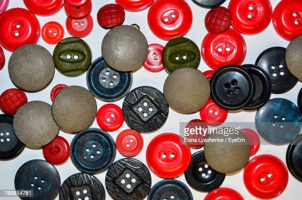 Full Frame Shot Of Various Buttons On Table