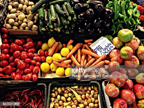 Full Frame Shot Of Various Vegetables For Sale