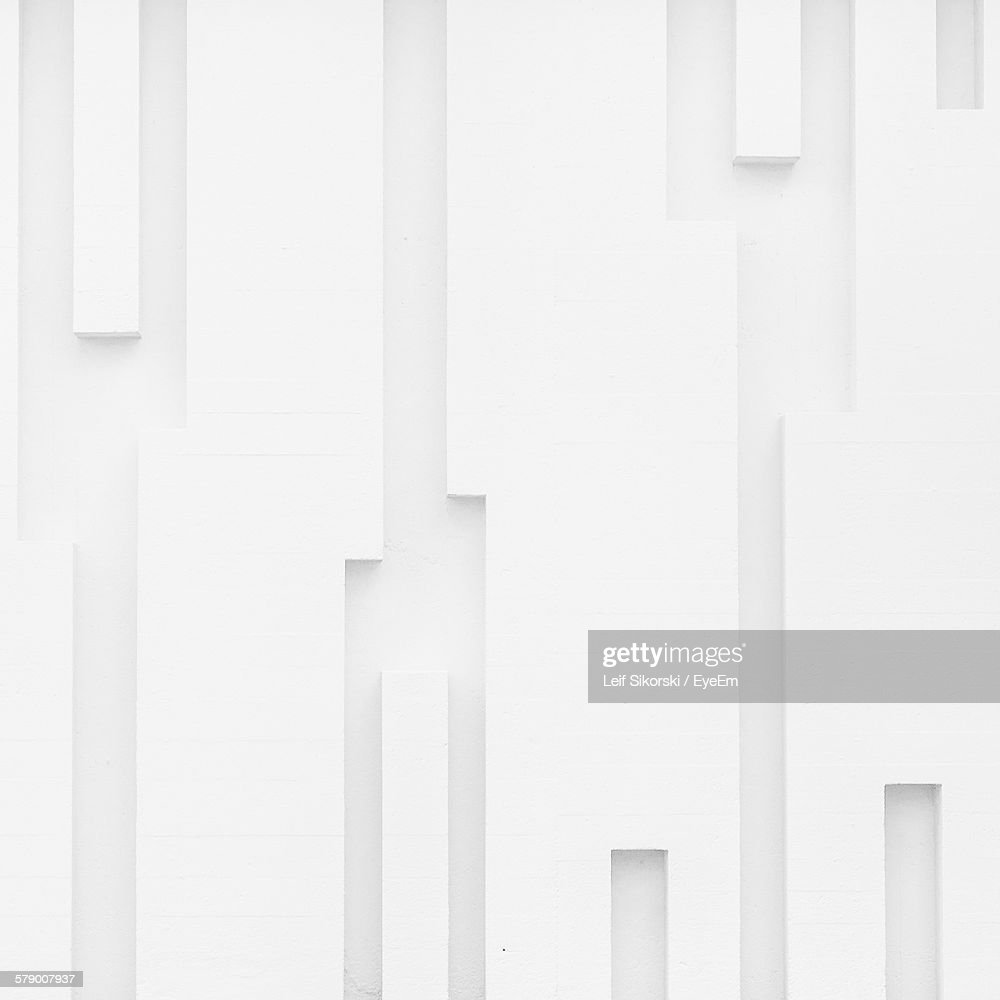Full Frame Shot Of White Wall : Stock Photo