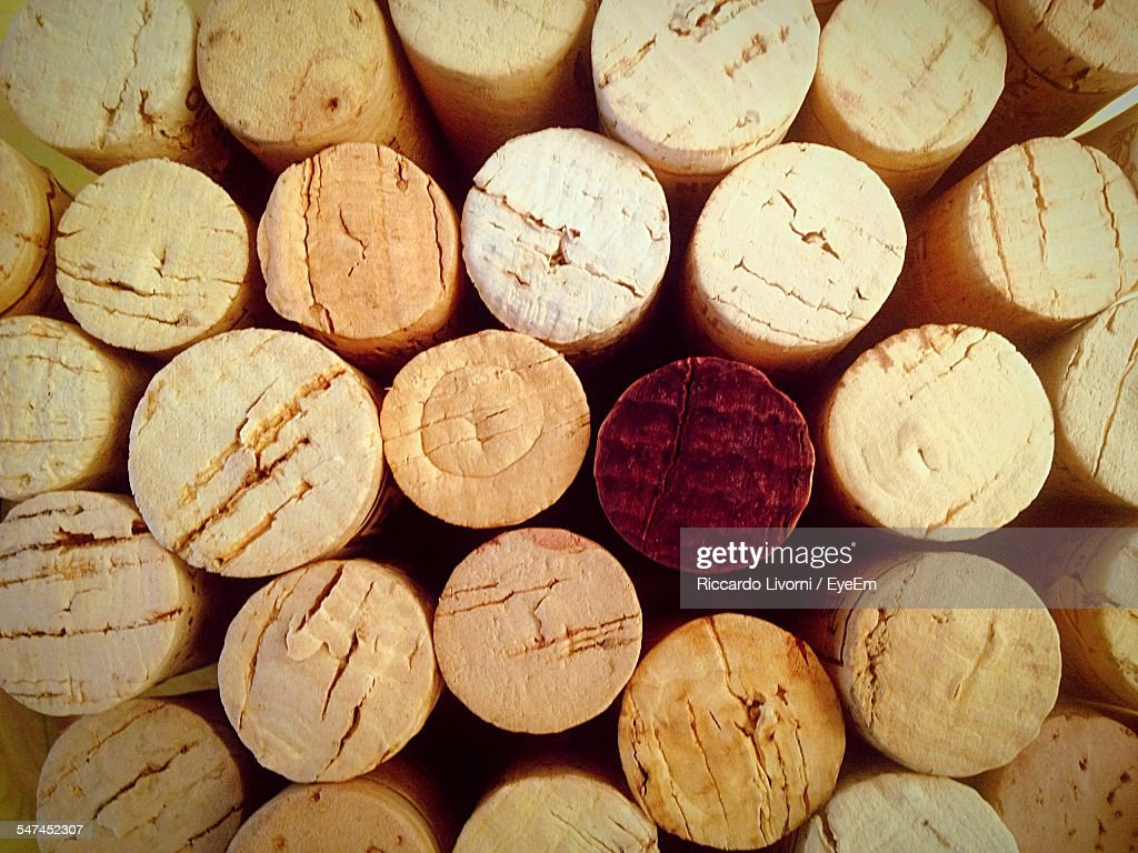 Full Frame Shot Of Wine Corks