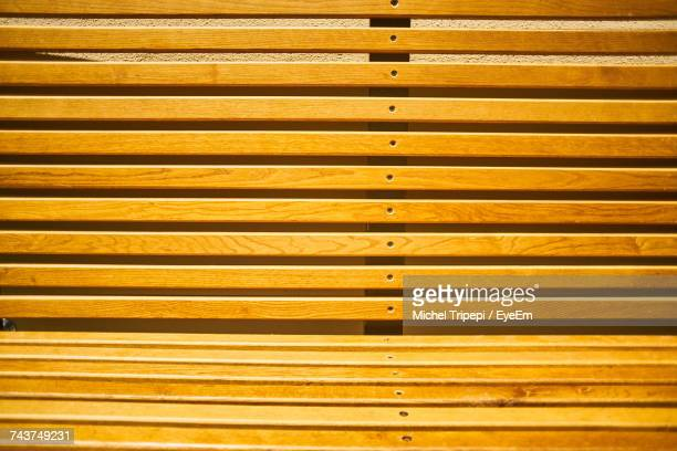 Full Frame Shot Of Wooden Bench