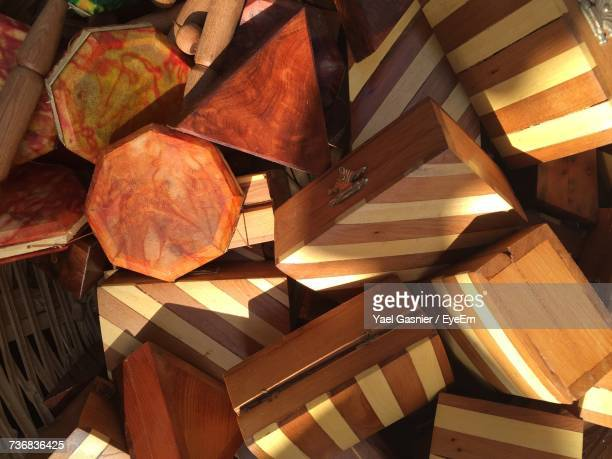 Full Frame Shot Of Wooden Boxes