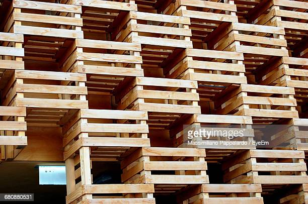 Full Frame Shot Of Wooden Structure On Building