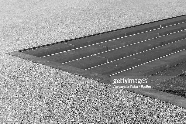 Full Frame View Of Concrete Staircase On Road