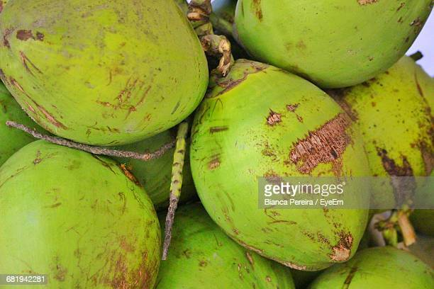 Full Frame View Of Green Coconuts