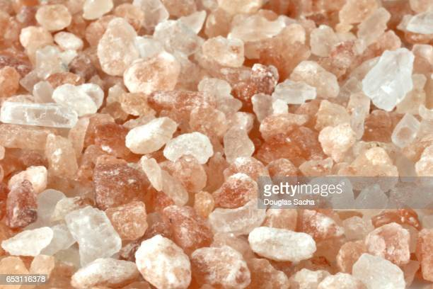 Full framed pink colored Himalayan Salt Crystals (Sodium chloride)
