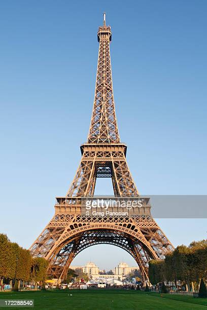 Full height view of the Eiffel Tower in Paris