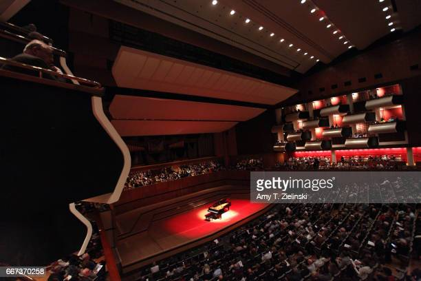 A full house audience awaits Chinese pianist Yuja Wang before her solo piano recital performing works by composers Chopin and Brahms as part of the...