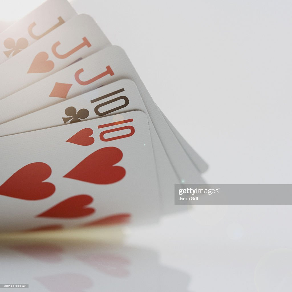 Full House of Poker Hand : Stock Photo