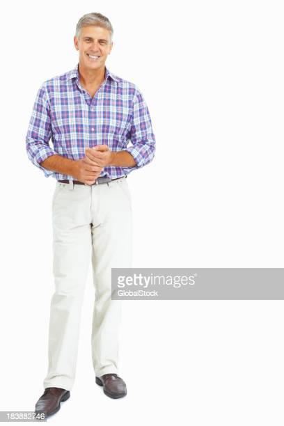 Full length of a mature man posing