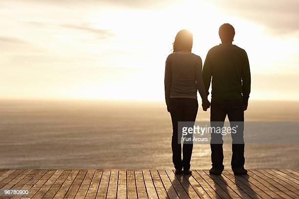 Full length portrait of couple