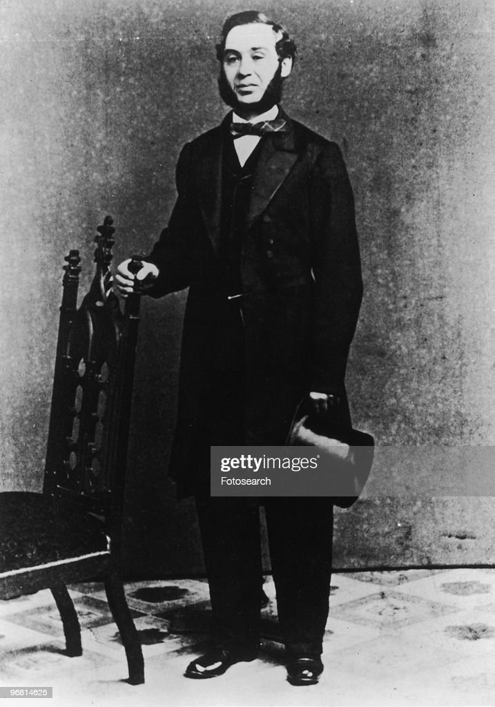 Full length portrait of Levi Strauss circa 1850s
