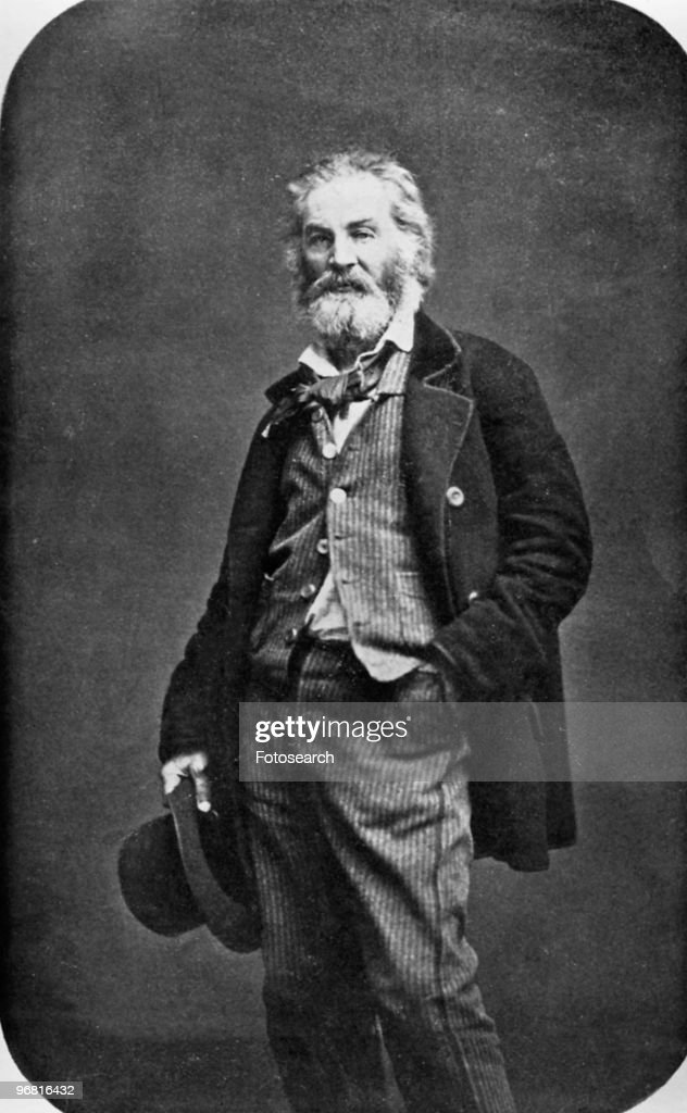 Full length portrait of Walt Whitman, circa 1880. (Photo by Fotosearch/Getty Images).