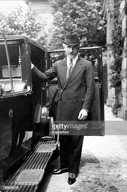 A full length portrait picture of Arturo Toscanini the Italian conductor and musical director of La Scala Milan and of the NBC symphony orchestra