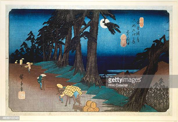 'Full Moon at Mochizuki' from 69 stations of Kisokaido 1832 From the British Museum London