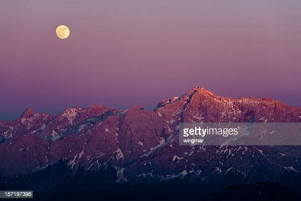 full moon at mt. zugspitze