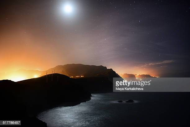 Full Moon over Madeira island, Portugal
