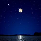 Full Moon Over New Hampshire