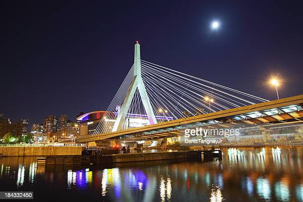 Full Moon over the Zakim Bridge