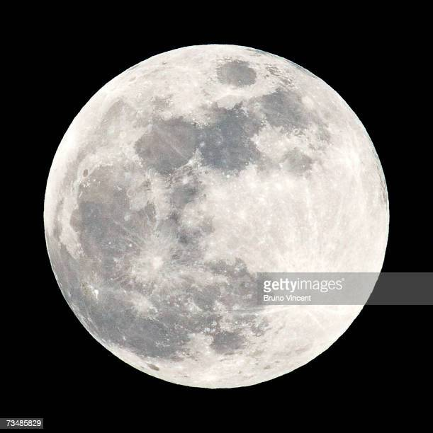 A full moon sits in the nights sky prior to the total lunar eclipse on March 3 2007 in London England For a little over an hour the earth passed...