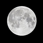 """Full moon in perygee - called """"Super Moon"""". Picture taken with 1200mm newtonian telescope and DSLR."""