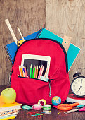 Full of bag school supplies
