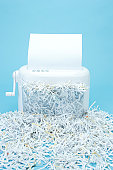 Full of paper in shredder
