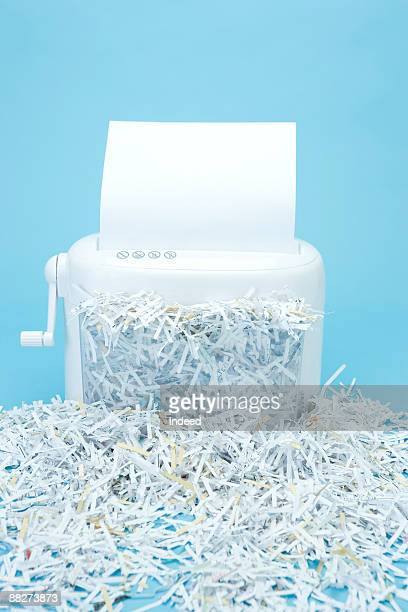 Full of paper in shredder