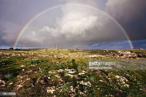 Full rainbow in Malta Countryside