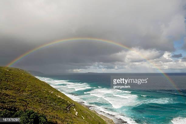 Full Rainbow over Coastlline