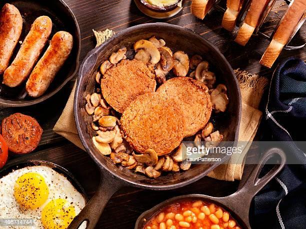 Die traditionellen schottischen Frühstück mit Haggis