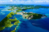 Full view of Palau Malakal Island and Koror - World heritage site -