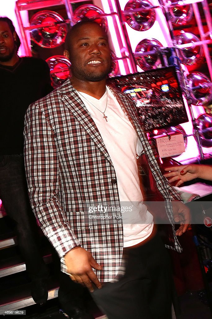 Fullback Michael Robinson of the Seattle Seahawks attends Cartoon Network's fourth annual Hall of Game Awards at Barker Hangar on February 15, 2014 in Santa Monica, California.
