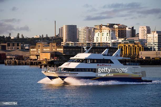 Fullers Quickcat II catamaran ferry to Waiheke Island.