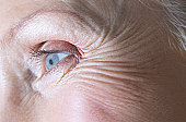 Full-Frame Close-Up of a Senior Woman's Eye