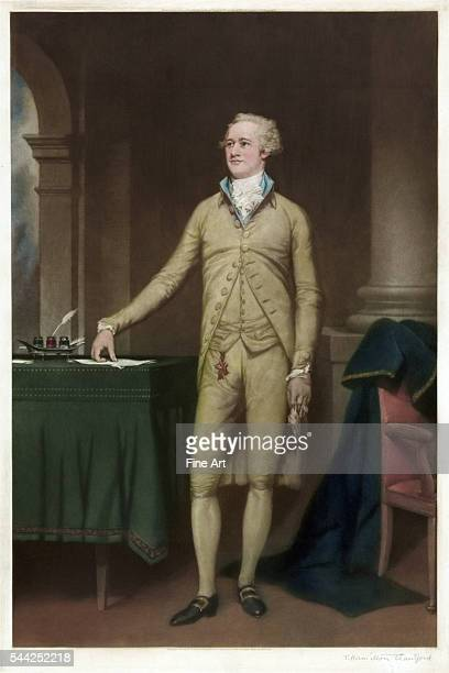 FullLength Portrait of Alexander Hamilton by Thomas Hamilton Crawford mezzotint published by Frost Reed London