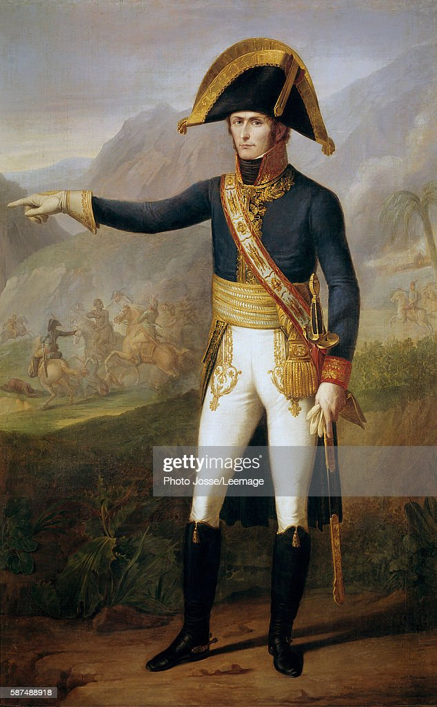 Fulllength portrait of Charles Emmanuel Leclerc general of the army of Saint Domingo Painting by Francois Joseph Kinson or Kinsoen 1804 207 x 127 m...