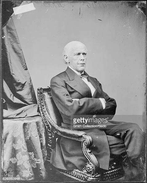 Fulllength seated portrait of former chief justice of the United States Salmon P Chase 1863 Image courtesy National Archives