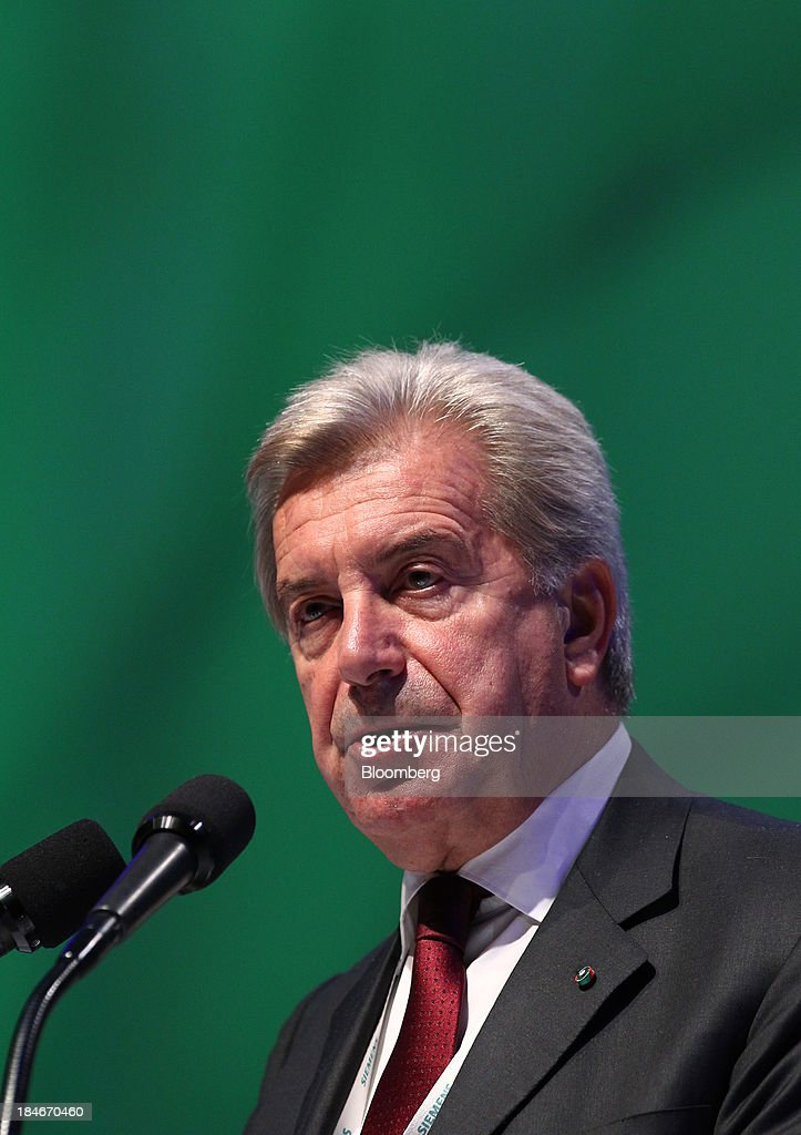 Fulvio Conti chief executive officer of Enel SpA speaks during the 22nd World Energy Congress in Daegu South Korea on Tuesday Oct 15 2013 The WEC a...