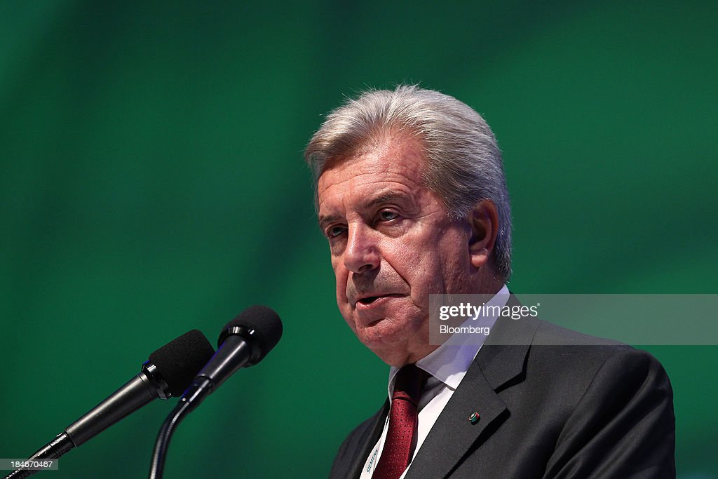 Fulvio Conti, chief executive officer of Enel SpA, speaks during the 22nd World Energy Congress (WEC) in Daegu, South Korea, on Tuesday, Oct. 15, 2013. The WEC, a global conference on the energy market, runs until Oct. 17. Photographer: SeongJoon Cho/Bloomberg via Getty Images