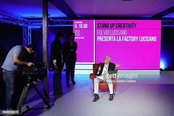 Fulvio Lucisano attends 'Stand Up For Creativity' during the 12th Rome Film Fest at Auditorium Parco Della Musica on October 26 2017 in Rome Italy