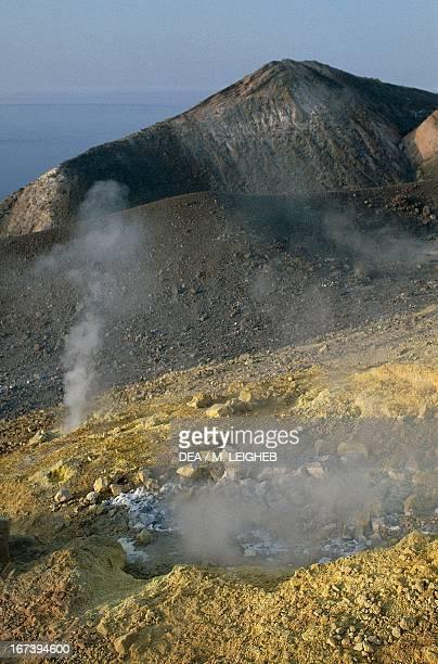 Fumaroles on Vulcano Island Aeolian Islands Sicily Italy