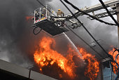 IND: Massive Fire Breaks Out In Archies Card Factory At Naraina Industrial Area