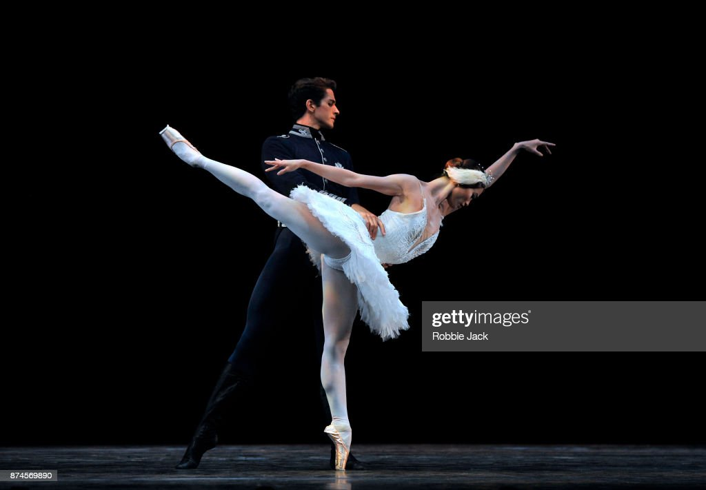 Fumi Kaneko and Reece Clarke in the Royal Ballet's production of Swan Lake at Hull New Theatre on September 15, 2017 in Hull, England.