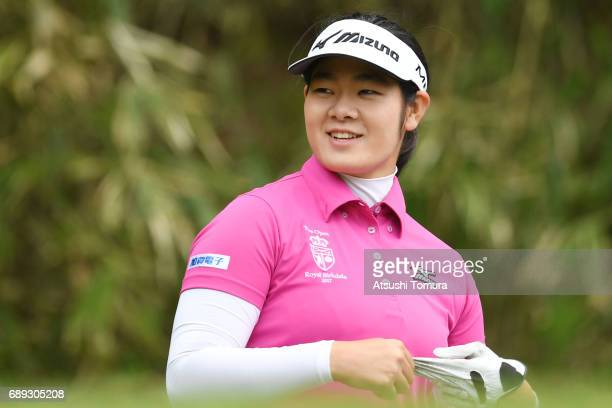 Fumika Kawagishi of Japan smiles during the final round of the Resorttrust Ladies at the Oakmont Golf Club on May 28 2017 in Yamazoe Japan