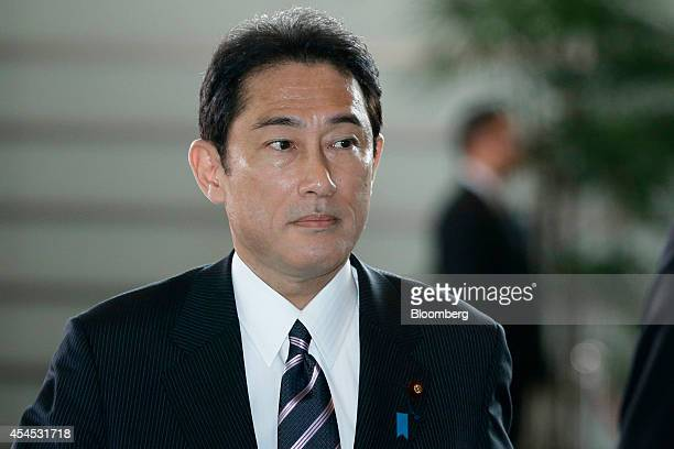 Fumio Kishida Japan's reappointed foreign minister arrives at the prime minister's official residence in Tokyo Japan on Wednesday Sept 3 2014...