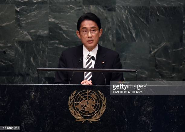 Fumio Kishida Minister for Foreign Affairs of Japan at a meeting of the 2015 Review Conference of the Parties to the Treaty on the NonProliferation...