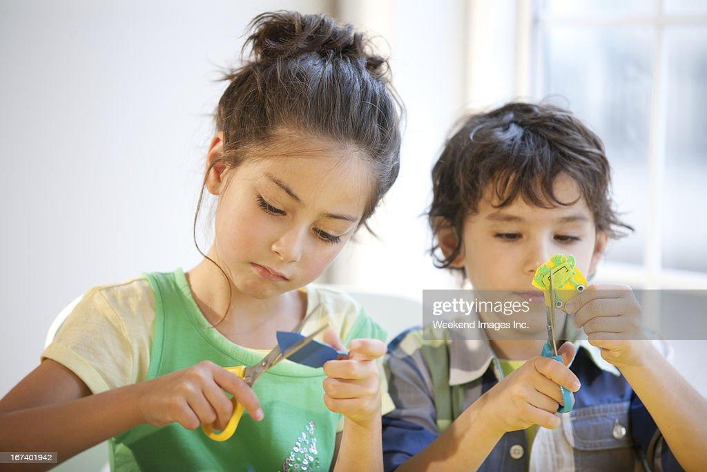 Divertente e facile bambini artigianato : Foto stock