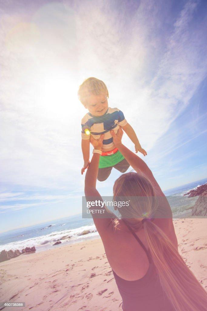 Fun at the beach : Stock Photo