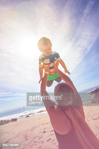 Fun at the beach : Stock Photo